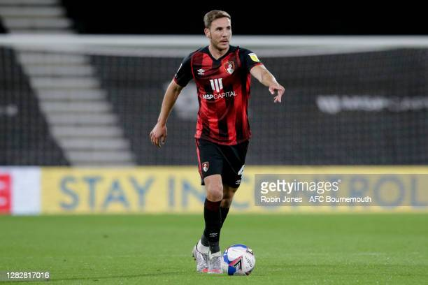 Dan Gosling of Bournemouth during the Sky Bet Championship match between AFC Bournemouth and Bristol City at Vitality Stadium on October 28 2020 in...