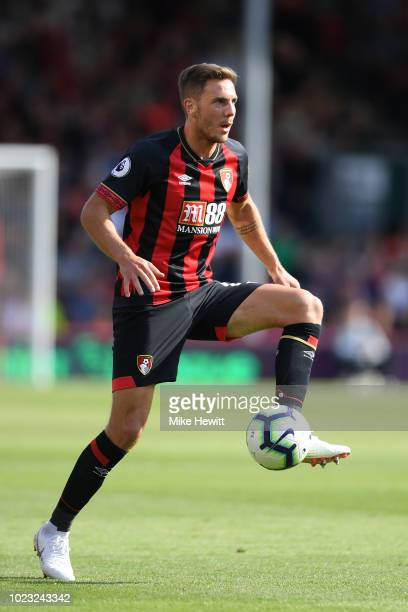 Dan Gosling of Bournemouth in action during the Premier League match between AFC Bournemouth and Everton FC at Vitality Stadium on August 25 2018 in...