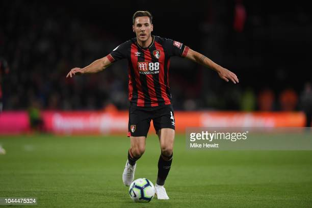 Dan Gosling of Bournemouth in action during the Premier League match between AFC Bournemouth and Crystal Palace at Vitality Stadium on October 1 2018...