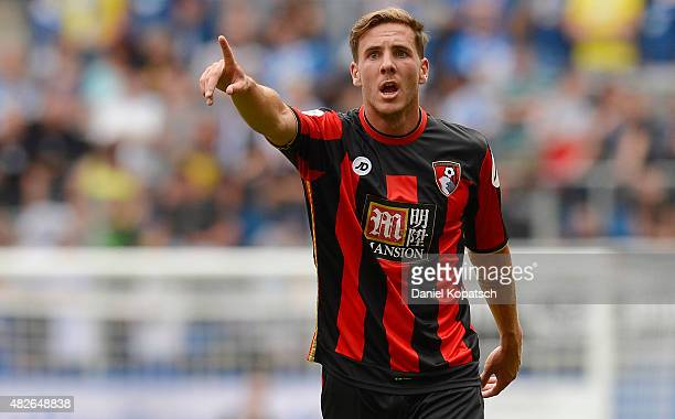 Dan Gosling of Bournemouth reacts during the friendly match between 1899 Hoffenheim and AFC Bournemouth at Wirsol RheinNeckarArena on August 1 2015...