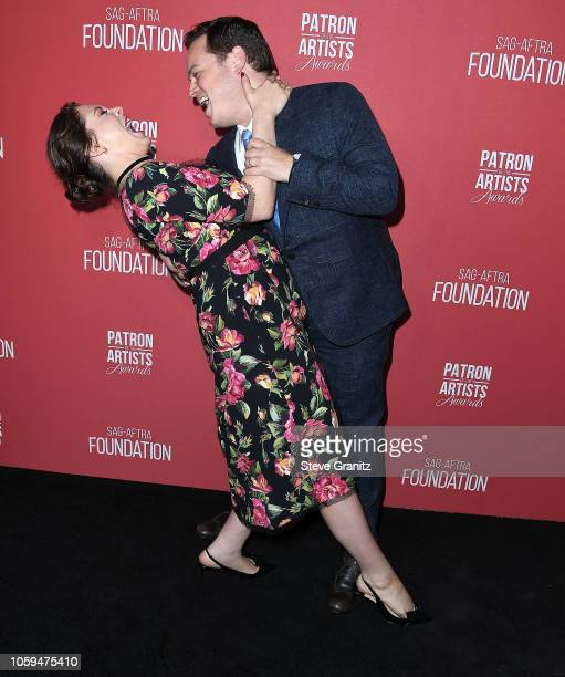 Dan Gregor Rachel Bloom arrives at the SAGAFTRA Foundation's 3rd Annual Patron Of The Artists Awards at Wallis Annenberg Center for the Performing...