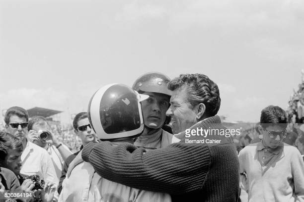 Dan Gurney Bob Bondurant Carol Shelby 24 Hours of Le Mans Le Mans 22 June 1964