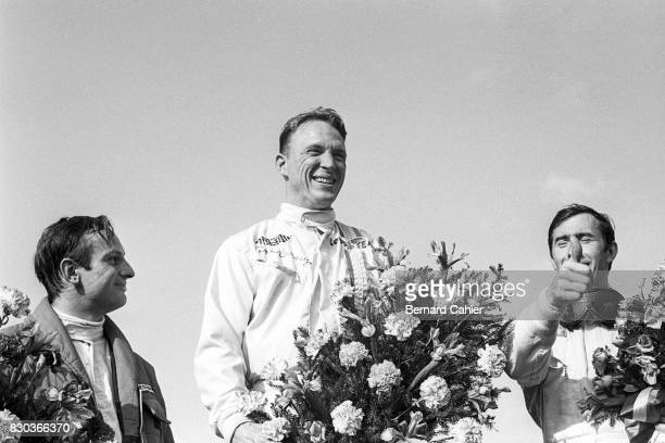 Dan Gurney, Chris Amon, Jackie Stewart, Grand Prix of Belgium, Spa Francorchamps, 18 June 1967.