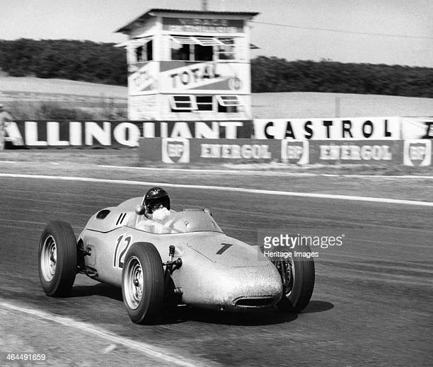 Dan Gurney driving a Porsche French Grand Prix Rheims 1961 Gurney finished second in the race in a season in which he finished joint third in the...