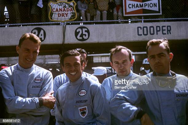 Dan Gurney Jim Clark John Surtees Phil Hill Grand Prix of Mexico Autodromo Hermanos Rodriguez 25 October 1964