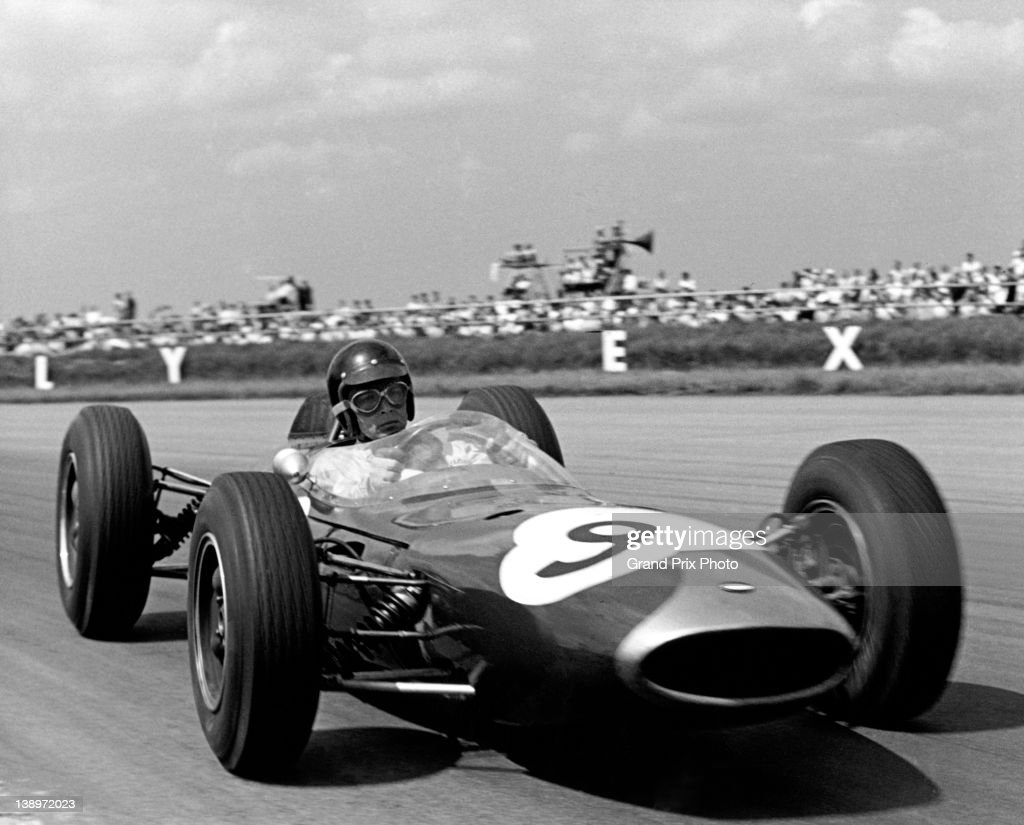 Dan Gurney of the United States drives the #9 Brabham Racing Organisation Brabham BT7 Coventry Climax during the XVI RAC British Grand Prix on 20th July 1963 at the Silverstone Circuit, Towcester, United Kingdom.