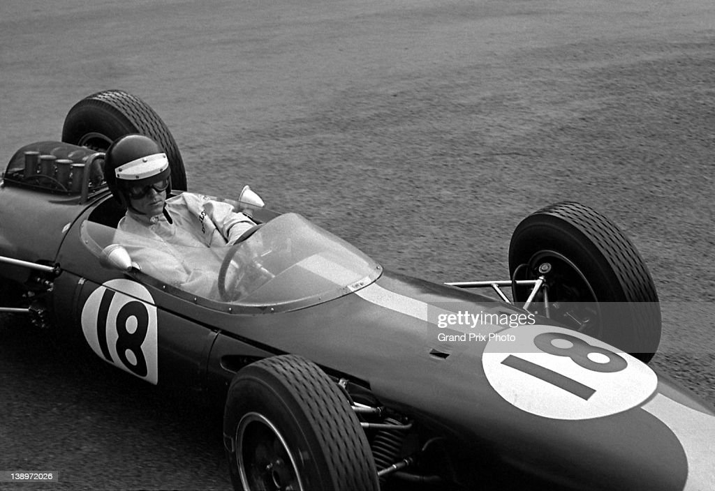 Dan Gurney of the United States drives the #18 Brabham Racing Organisation Brabham BT7 Coventry Climax during the Belgian Grand Prix on 9th June 1963 at the Circuit National de Francorchamps in Spa Francorchamps, Belgium.