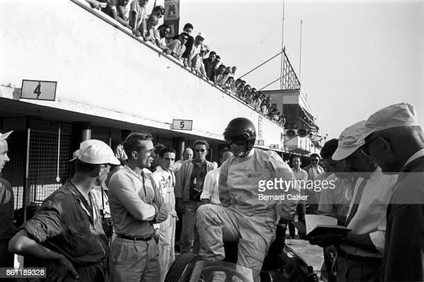 Dan Gurney Phil Hill Ferrari 246 Grand Prix of Italy Autodromo Nazionale Monza 13 September 1959 Dan Gurney and Phil Hill two American Ferrari...