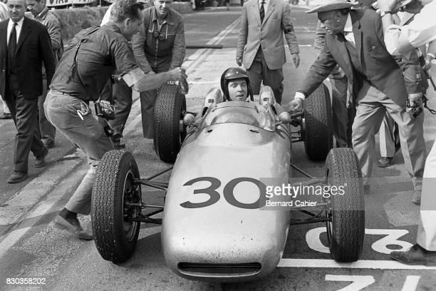 Dan Gurney, Phil Hill, Porsche 804, Grand Prix of France, Rouen-Les-Essarts, 08 July 1962.
