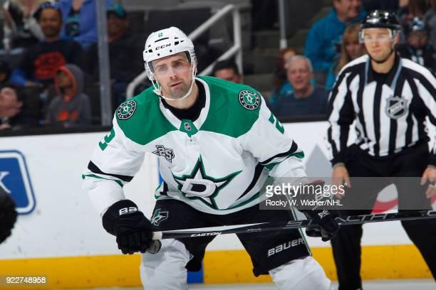 Dan Hamhuis of the Dallas Stars skates against the San Jose Sharks at SAP Center on February 18 2018 in San Jose California