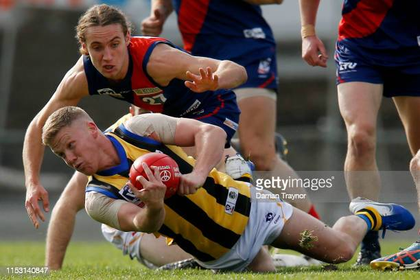 Dan Hannebery competes during the round nine VFL match between Coburg and Sandringham at Piranha Park on June 02, 2019 in Melbourne, Australia.