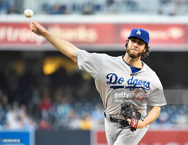 Dan Haren of the Los Angeles Dodgers pitches during the first inning of a baseball game against the San Diego Padres at Petco Park June 20 2014 in...
