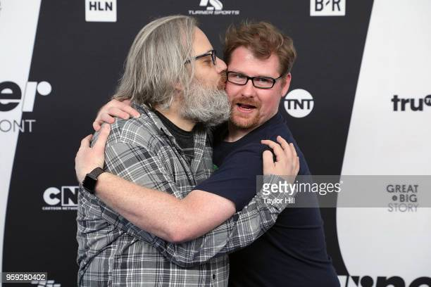 Dan Harmon and Justin Roiland attend the 2018 Turner Upfront at One Penn Plaza on May 16 2018 in New York City
