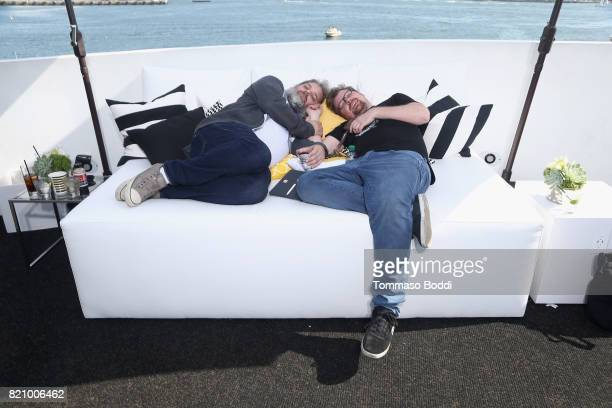 Dan Harmon and Justin Roiland on the #IMDboat at San Diego ComicCon 2017 at The IMDb Yacht on July 22 2017 in San Diego California