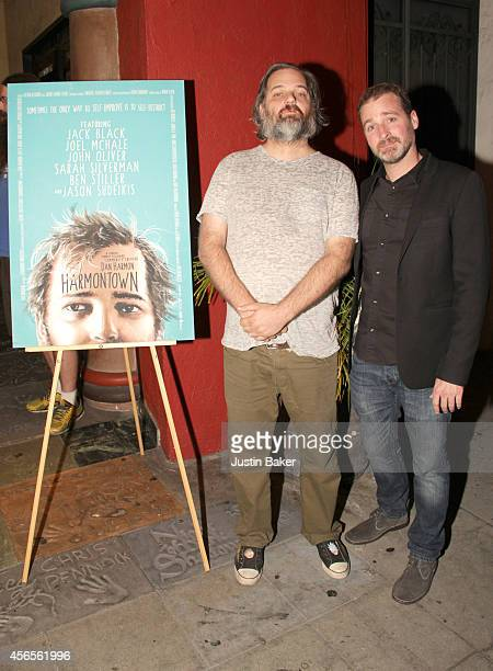 Dan Harmon and Neil Berkeley attend the Harmontown Los Angeles special screening at the Vista Theatre on October 2 2014 in Los Angeles California