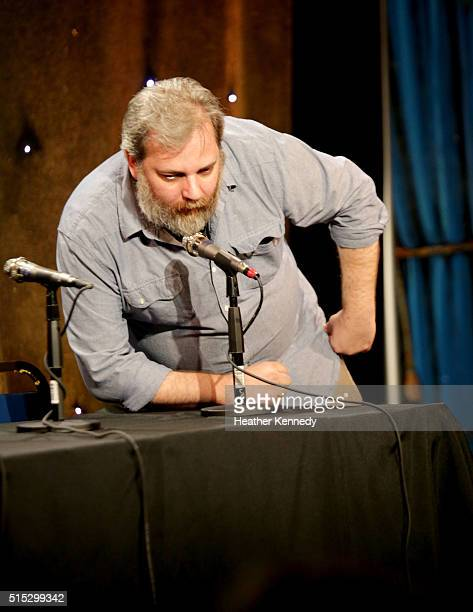 Dan Harmon speaks onstage at HarmonQuest during the 2016 SXSW Music Film Interactive Festival at Esther's Follies on March 12 2016 in Austin Texas