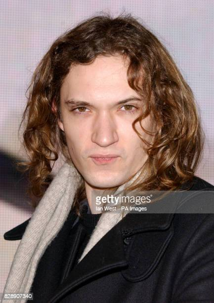 Dan Hawkins guitar player for The Darkness at HMV Oxford Street before they signed copies of their new Christmas single 'Christmas Time ' in store...