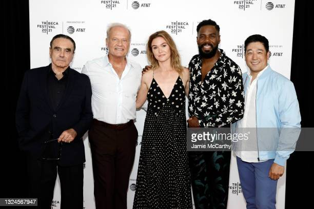 """Dan Hedaya, Kelsey Grammer, Julia Stiles, Colman Domingo and Peter Kim attend the """"The God Committee"""" premiere during the 2021 Tribeca Festival at..."""