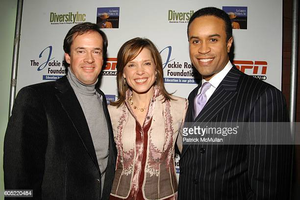 Dan Hicks Hannah Storm and Maurice DuBois attend Jackie Robinson Foundation celebrates Jackie Robinson's Birthday at ESPN Zone on January 23 2006 in...