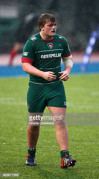 Dan Hogan of Leicester during the Premiership Rugby/RFU U18 Academy Finals Day match between Leicester and Bath at The Allianz Park on February 16...