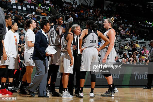 Dan Hughes of the San Antonio Stars during the game against the Phoenix Mercury at the ATT Center on September 18 2016 in San Antonio Texas NOTE TO...