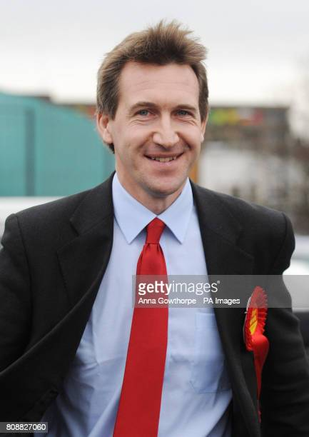 Dan Jarvis Labour's candidate for the Barnsley Central byelection on the campaign trail in Barnsley South Yorkshire