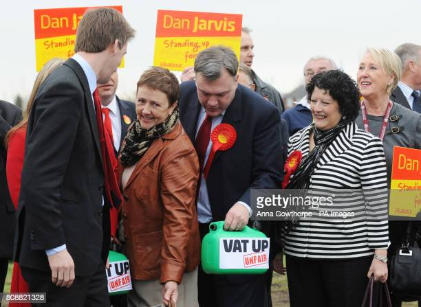 Dan Jarvis Labour's candidate for the Barnsley Central byelection with supporters on the campaign trail in Barnsley South Yorkshire with Labour...