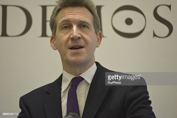 Dan Jarvis MP also known as Daniel Jarvis MBE member of the United Kingdom Parliament for Barnsley Central speaking to outline the Labour Party's...