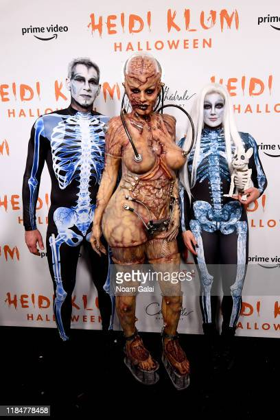 Dan Jedda, Heidi Klum, and Laura Schara attend Heidi Klum's 20th Annual Halloween Party presented by Amazon Prime Video and SVEDKA Vodka at...