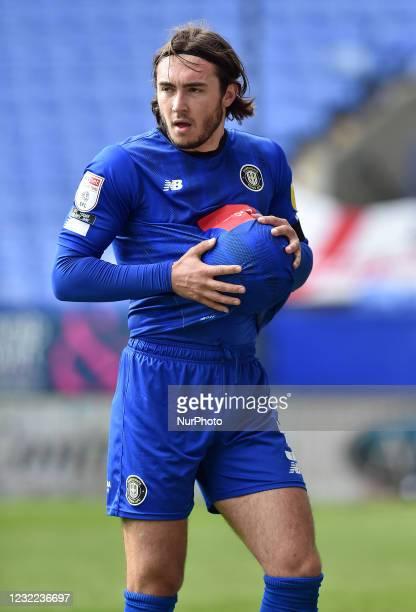 Dan Jones of Harrogate Town during the Sky Bet League 2 match between Bolton Wanderers and Harrogate Town at the Reebok Stadium, Bolton, England on...