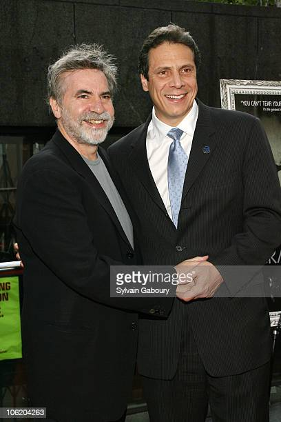 Dan Klores and Governor Mario Cuomo during Crazy Love New York Premiere Red Carpet at Beekman 1 2 Theater at 1271 Second Avenue on 62nd Street in New...