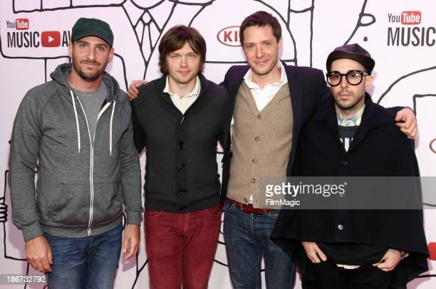 Dan Konopka Andy Ross Tim Nordwind and Damian Kulash of OK GO attends the YouTube Music Awards 2013 on November 3 2013 in New York City