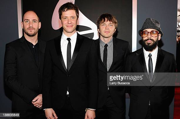 Dan Konopka Damian Kulash Andy Ross and Tim Nordwind of OK Go arrive at the 54th Annual GRAMMY Awards held at Staples Center on February 12 2012 in...