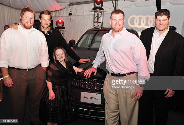 Dan Koppen Tom Brady Katie Meade Logan Mankins and Steve Neal attend the Audi Best Buddies press reception on May 16 2008 in Hyannis Port Maine
