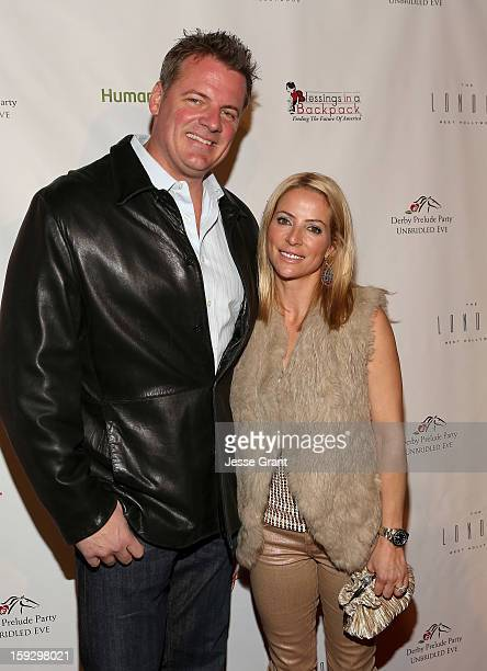 Dan Kruse and Chantal Sutherland attend The 4th Annual Unbridled Eve Derby Prelude Party at The London West Hollywood on January 10 2013 in West...
