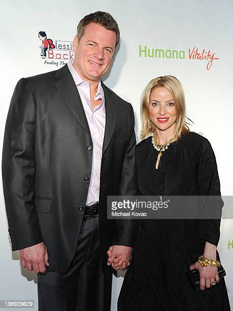 Dan Kruse and wife jockey Chantal Sutherland attend the Derby Prelude Party at The London Hotel on January 12 2012 in West Hollywood California