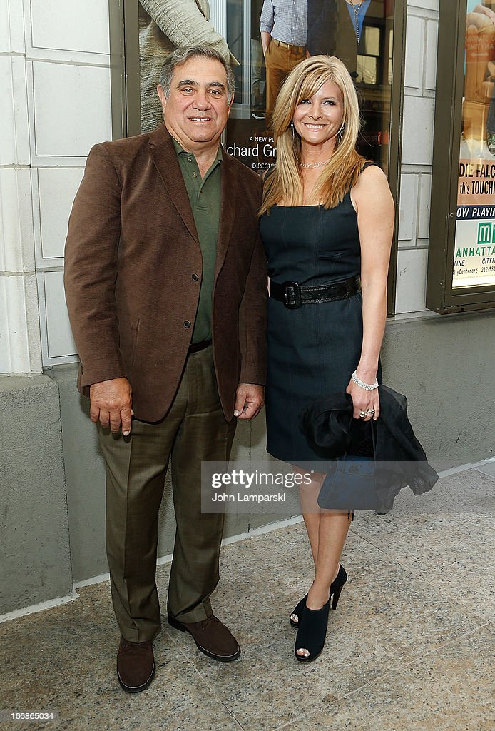 Dan Lauria and guest attend 'The Assembled Parties' Broadway Opening Night at the Samuel J. Friedman Theatre on April 17, 2013 in New York City.