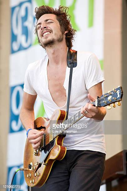 Dan Layus of Augustana performs during the Taste of Chicago at the Petrillo Music Shell in Grant Park on June 27, 2009 in Chicago, Illinois.