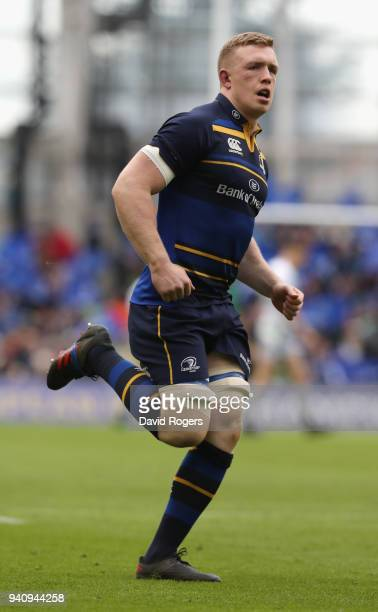 Dan Leavy of Leinster looks on during the European Rugby Champions Cup quarter final match between Leinster Rugby and Saracens at the Aviva Stadium...
