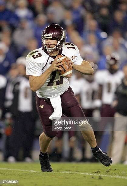Dan LeFevour of the Central Michigan Chippewas looks to pass the ball during the game against the Kentucky Wildcats on September 30 2006 at...