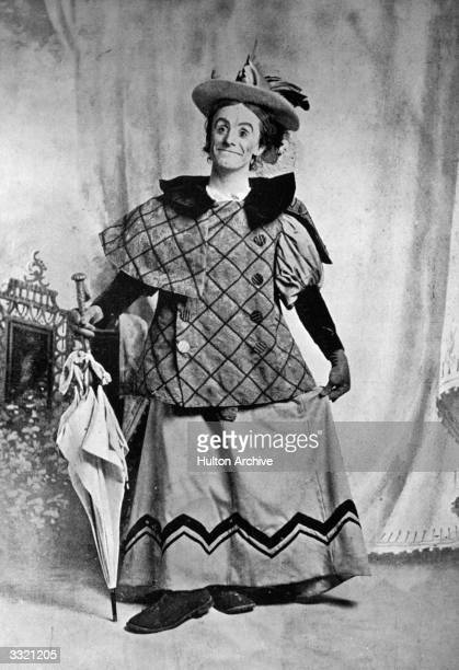 Dan Leno as the 'Baroness' in the pantomime 'Cinderella' at Drury Lane theatre London Dan Leno was an English comedian and pantomime artist also...