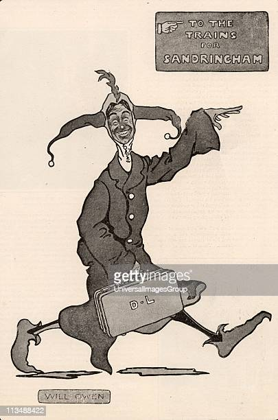 Dan Leno born George Wild Galvin Popular English cockney comedian and pantomime dame Leno on his way to Sandringham to give a royal command...