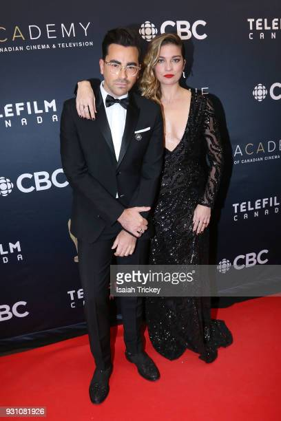 Dan Levy and Annie Murphy arrive at the 2018 Canadian Screen Awards at the Sony Centre for the Performing Arts on March 11 2018 in Toronto Canada