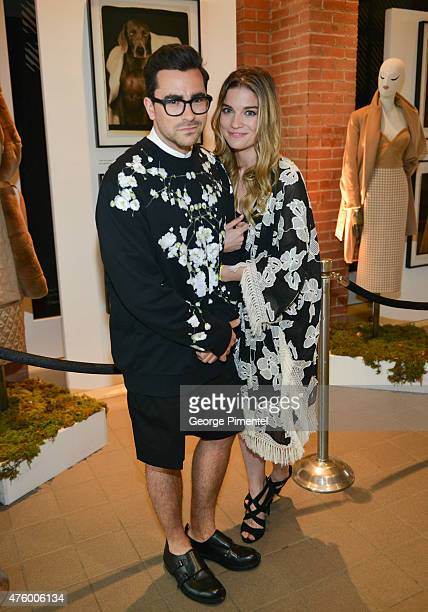 Dan Levy and Annie Murphy attend the Max Mara presents The Power Plant's Power Ball XVII Appetite For Excess at Power Plant Gallery on June 4 2015 in...