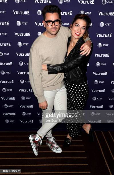 Dan Levy and Annie Murphy attend the Vulture Festival presented by ATT at Hollywood Roosevelt Hotel on November 17 2018 in Hollywood California