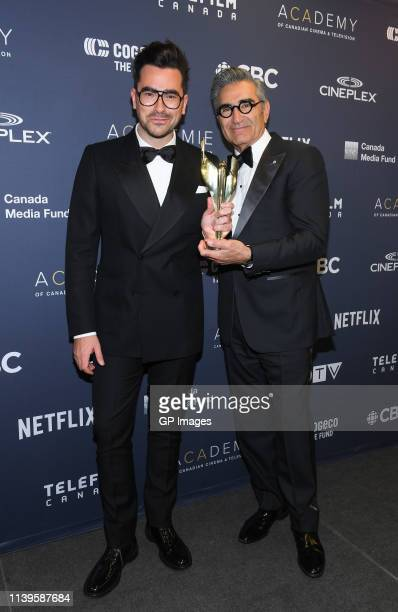 Dan Levy and Eugene Levy at the 2019 Canadian Screen Awards Broadcast Gala held at Sony Centre for the Performing Arts on March 31 2019 in Toronto...