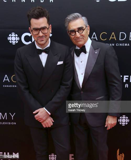 Dan Levy and Eugene Levy attend the 2019 Canadian Screen Awards Broadcast Gala at Sony Centre for the Performing Arts on March 31 2019 in Toronto...