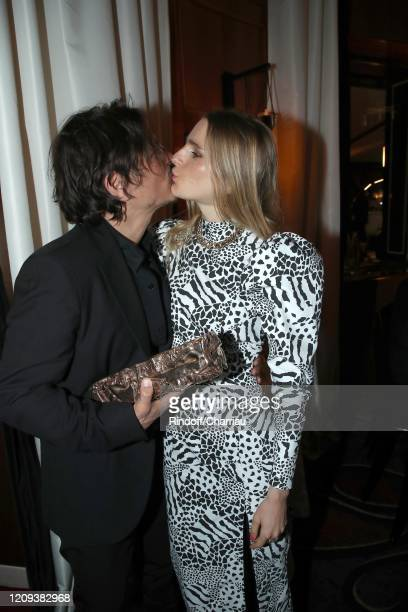 Dan Levy and Yorina Bosco attend Cesar Film Award 2020 Dinner at Le Fouquet's on February 28 2020 in Paris France