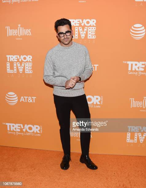 Dan Levy arrives at The Trevor Project's 2018 TrevorLIVE LA Gala at The Beverly Hilton Hotel on December 2 2018 in Beverly Hills California
