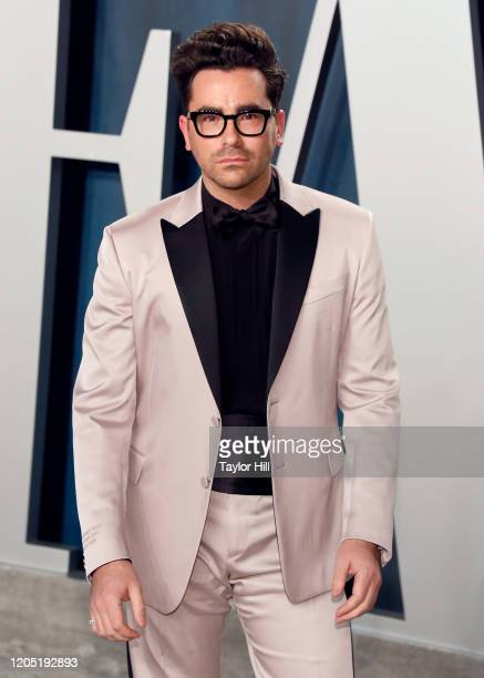 Dan Levy attends the 2020 Vanity Fair Oscar Party at Wallis Annenberg Center for the Performing Arts on February 09, 2020 in Beverly Hills,...